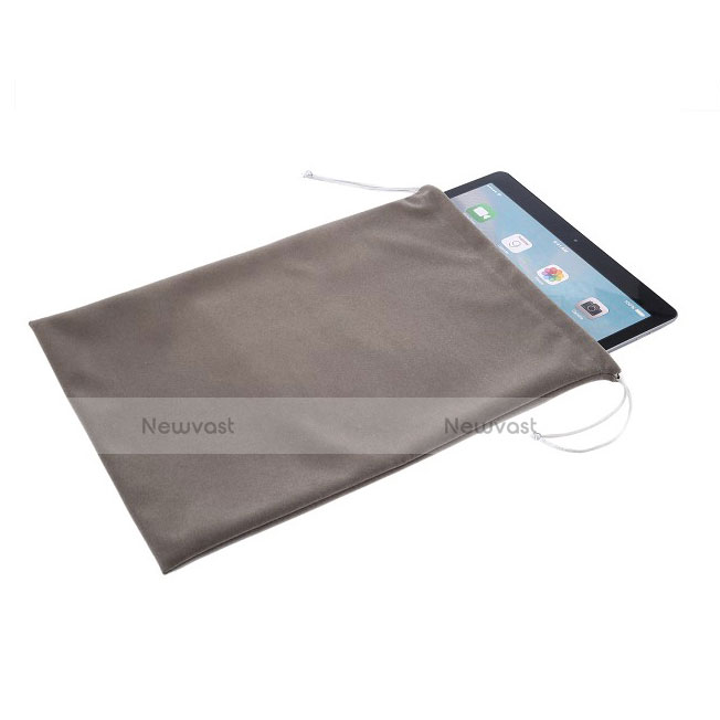 Sleeve Velvet Bag Slip Pouch for Apple iPad Pro 12.9 Gray