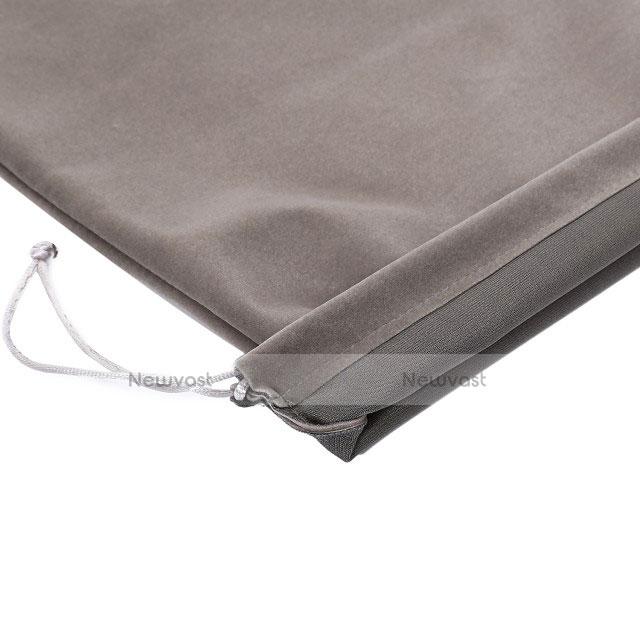 Sleeve Velvet Bag Slip Pouch for Huawei MediaPad X2 Gray