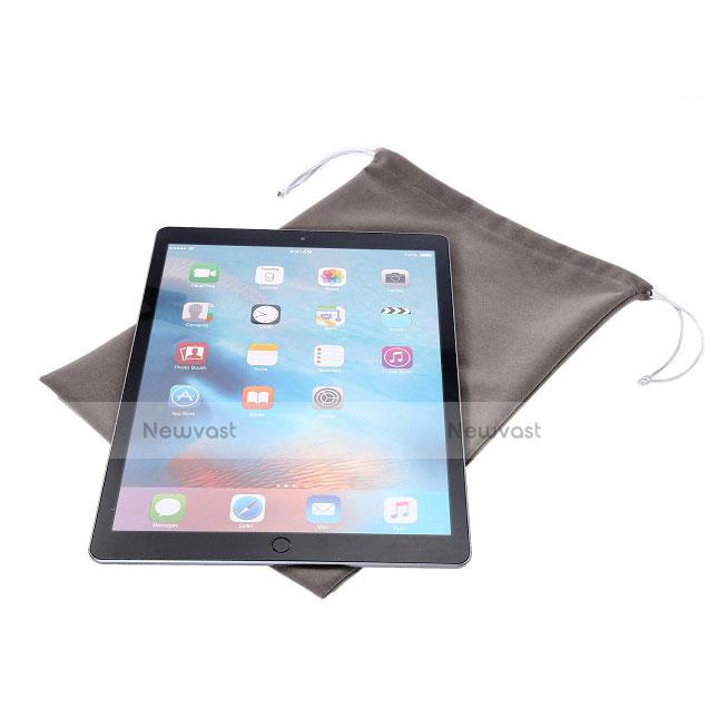 Sleeve Velvet Bag Slip Pouch for Microsoft Surface Pro 4 Gray
