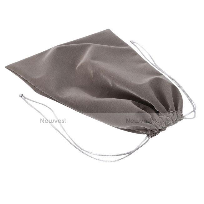 Sleeve Velvet Bag Slip Pouch for Samsung Galaxy Tab S2 8.0 SM-T710 SM-T715 Gray