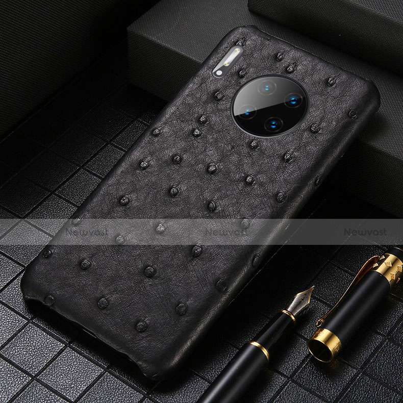 Soft Luxury Leather Snap On Case Cover S01 for Huawei Mate 30 Pro 5G