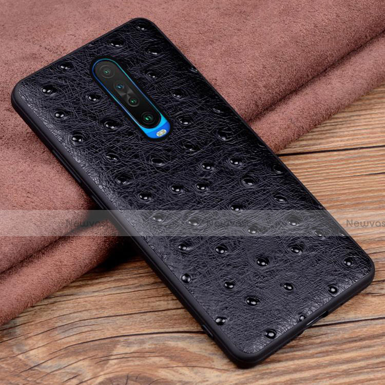 Soft Luxury Leather Snap On Case Cover S03 for Xiaomi Redmi K30 5G Black