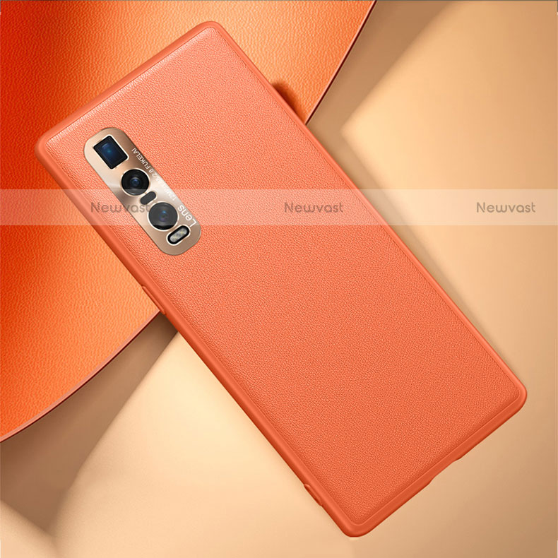Soft Luxury Leather Snap On Case Cover U01 for Oppo Find X2 Pro