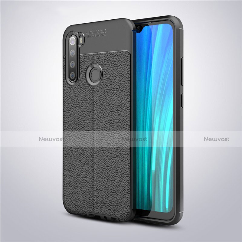 Soft Silicone Gel Leather Snap On Case Cover for Xiaomi Redmi Note 8 Black
