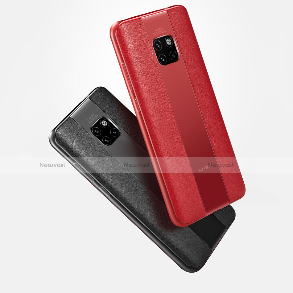 Soft Silicone Gel Leather Snap On Case Cover G01 for Huawei Mate 20 Pro
