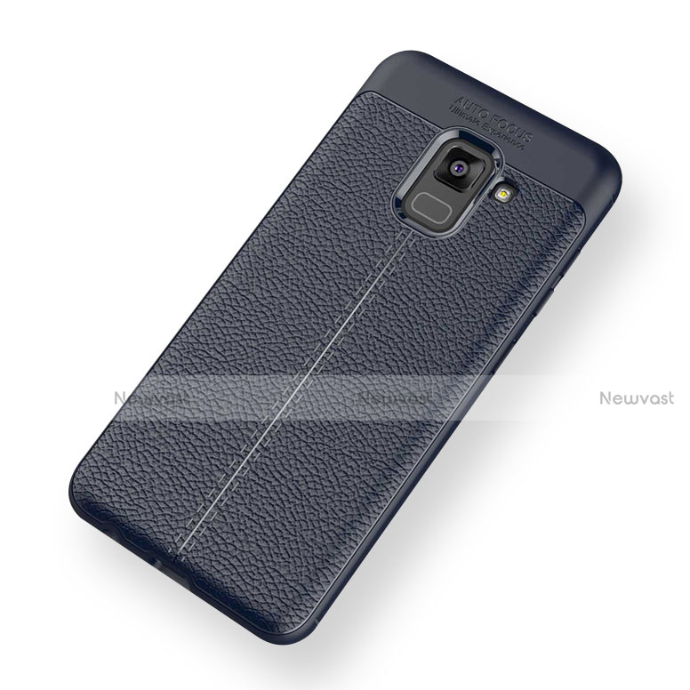 Soft Silicone Gel Leather Snap On Case for Samsung Galaxy A5 (2018) A530F