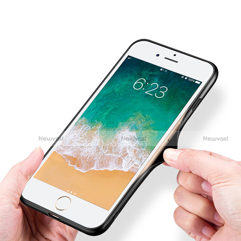 Soft Silicone Gel Mirror Cover for Apple iPhone SE (2020) White