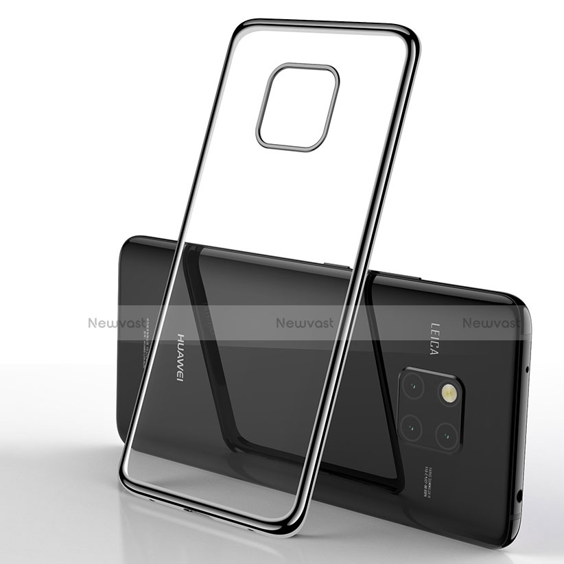 Soft Silicone Gel Mirror Cover for Huawei Mate 20 Pro Black
