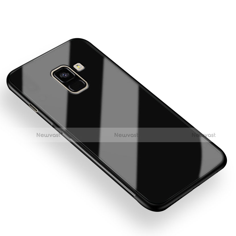 Soft Silicone Gel Mirror Cover for Samsung Galaxy A8+ A8 Plus (2018) A730F Black
