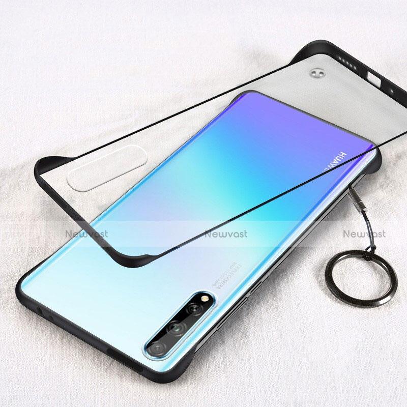Transparent Crystal Hard Case Back Cover H01 for Huawei Enjoy 10S Black