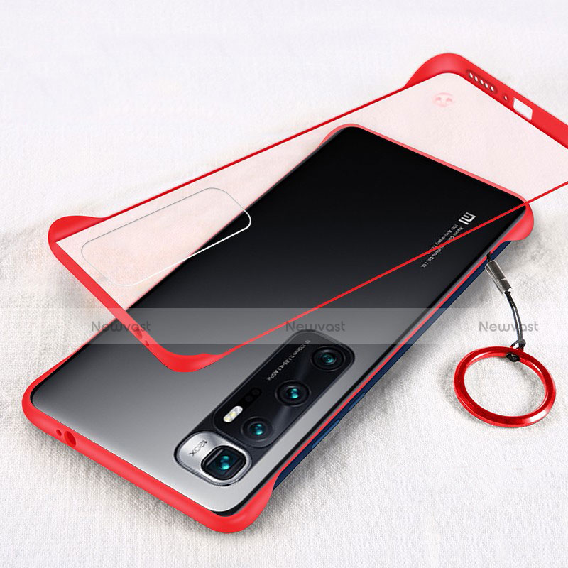 Transparent Crystal Hard Case Back Cover H01 for Xiaomi Mi 10 Ultra Red