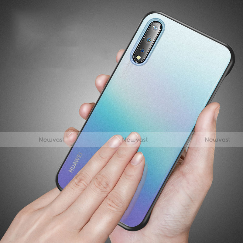 Transparent Crystal Hard Case Back Cover H02 for Huawei Enjoy 10S