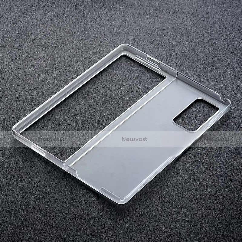 Transparent Crystal Hard Case Cover for Samsung Galaxy Z Fold2 5G Black