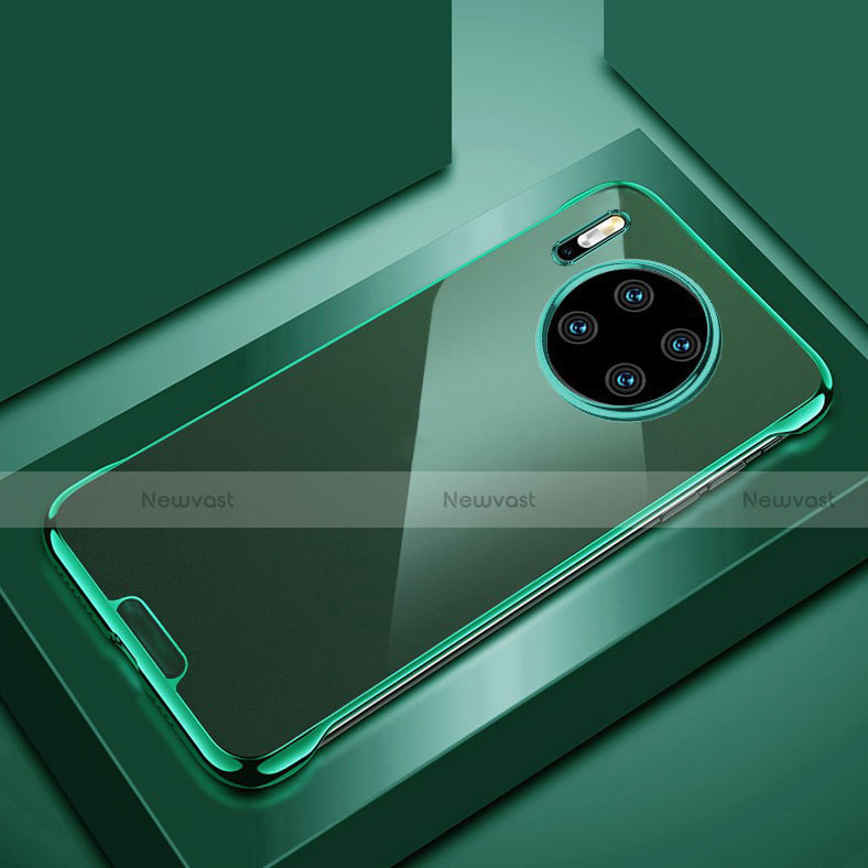 Transparent Crystal Hard Rigid Case Back Cover H02 for Huawei Mate 30 Pro 5G Green