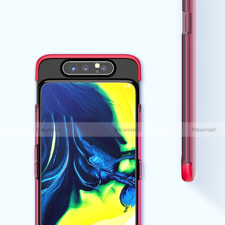 Transparent Crystal Hard Rigid Case Back Cover H02 for Samsung Galaxy A80