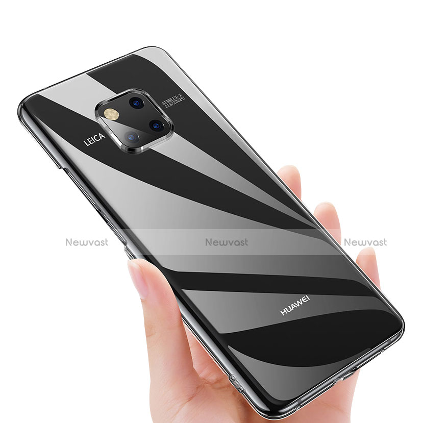 Transparent Crystal Hard Rigid Case Cover for Huawei Mate 20 Pro Clear