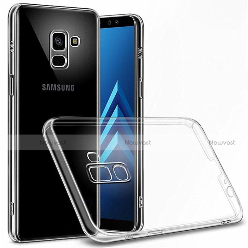 Transparent Crystal Hard Rigid Case Cover for Samsung Galaxy A6 (2018) Clear