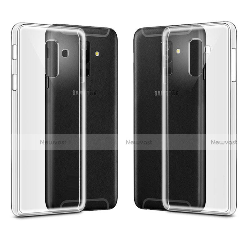Transparent Crystal Hard Rigid Case Cover for Samsung Galaxy A6 Plus Clear