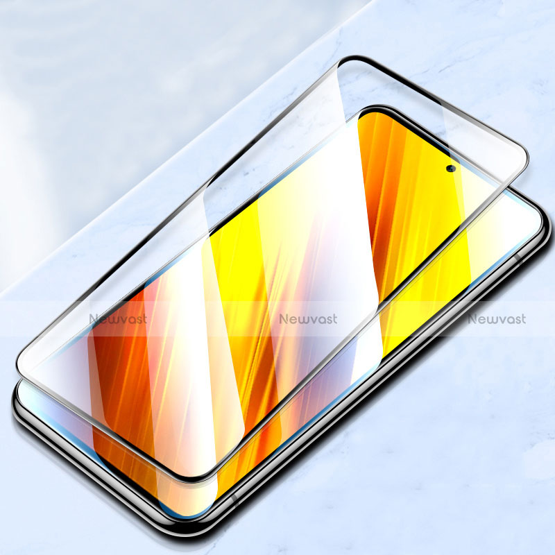 Ultra Clear Full Screen Protector Tempered Glass for Xiaomi Poco X3 NFC Black
