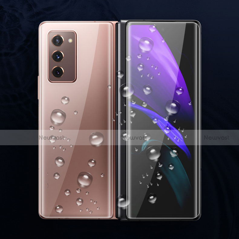 Ultra Clear Screen Protector Front and Back Film F01 for Samsung Galaxy Z Fold2 5G Clear
