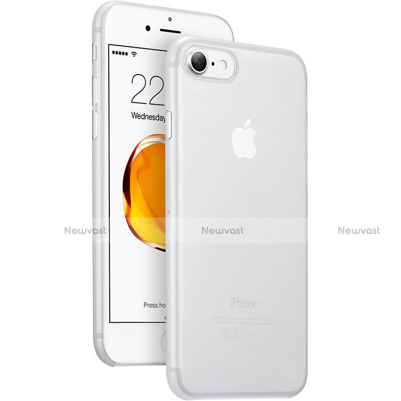 Ultra Slim Transparent Matte Finish Cover for Apple iPhone SE (2020) White