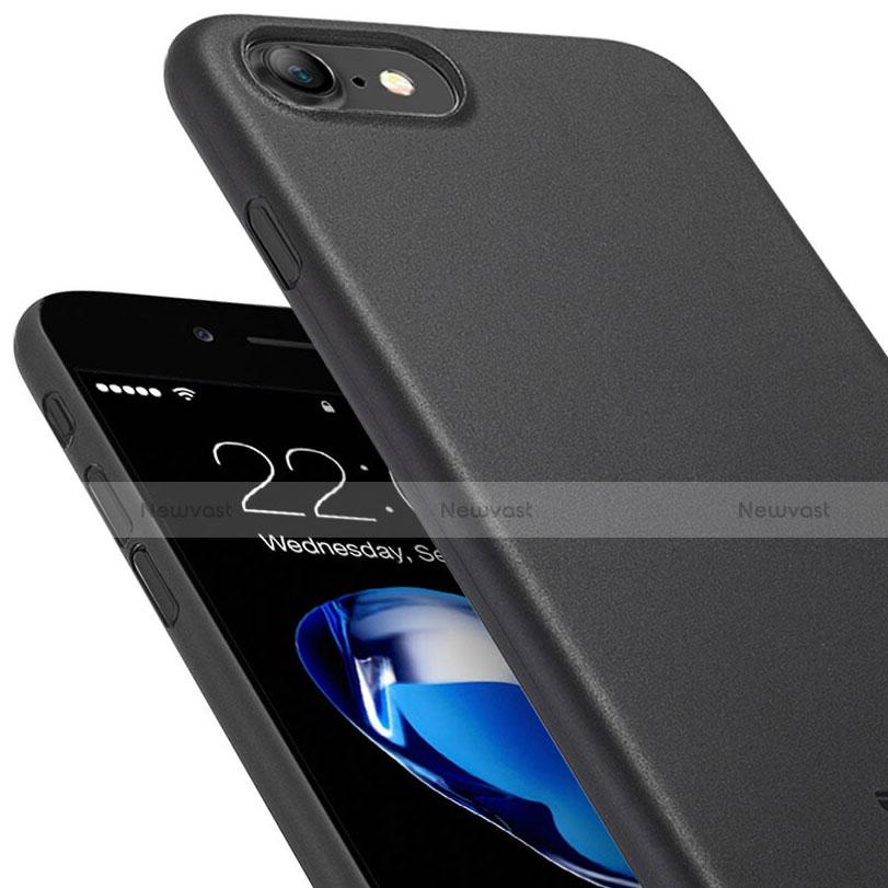 Ultra-thin Plastic Matte Finish Back Cover for Apple iPhone SE (2020) Black