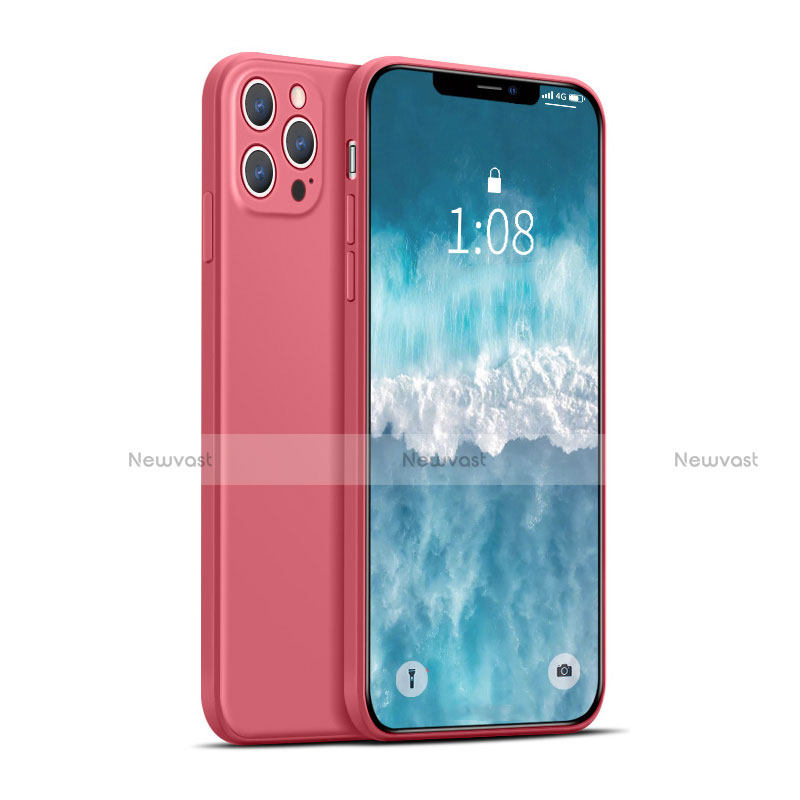 Ultra-thin Silicone Gel Soft Case 360 Degrees Cover for Apple iPhone 12 Pro Red