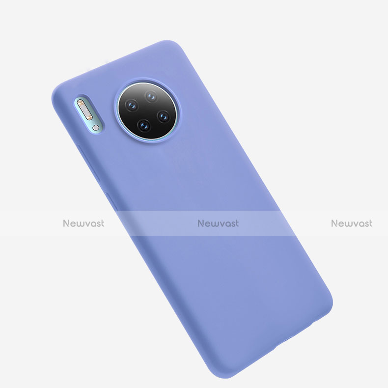 Ultra-thin Silicone Gel Soft Case 360 Degrees Cover for Huawei Mate 30 Pro 5G Purple