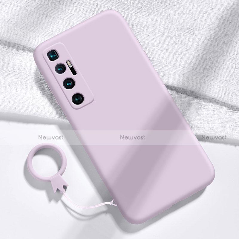 Ultra-thin Silicone Gel Soft Case 360 Degrees Cover for Xiaomi Mi 10 Ultra Clove Purple