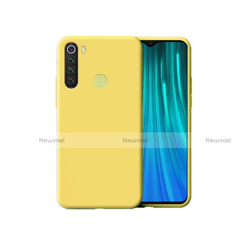 Ultra-thin Silicone Gel Soft Case 360 Degrees Cover for Xiaomi Redmi Note 8 Yellow