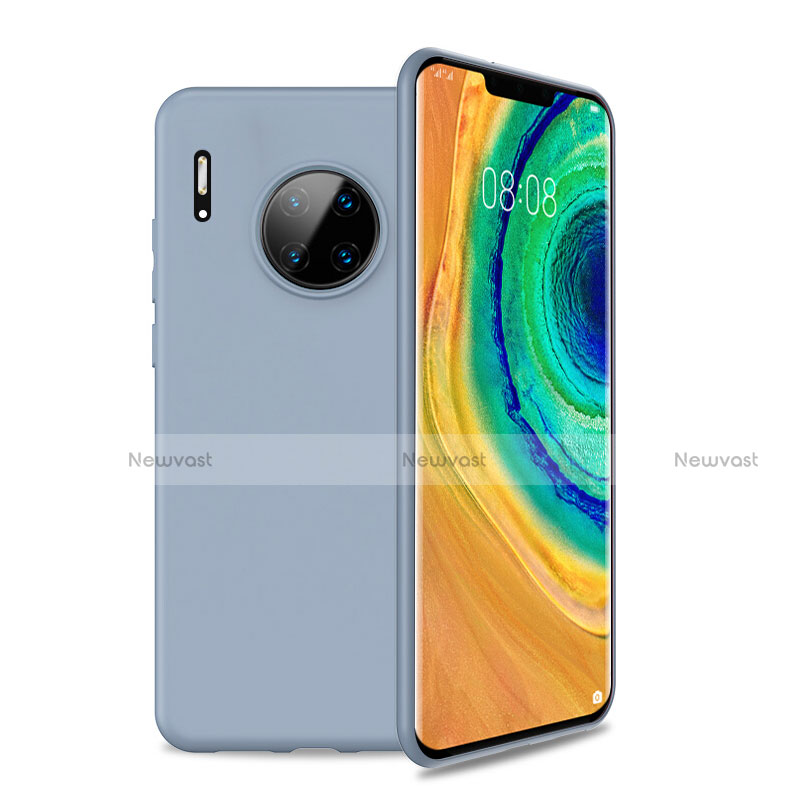 Ultra-thin Silicone Gel Soft Case 360 Degrees Cover S01 for Huawei Mate 30 Pro 5G Sky Blue