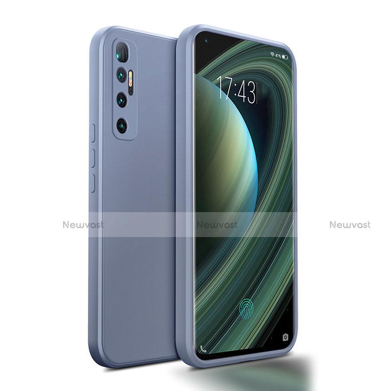 Ultra-thin Silicone Gel Soft Case 360 Degrees Cover S01 for Xiaomi Mi 10 Ultra Lavender Gray