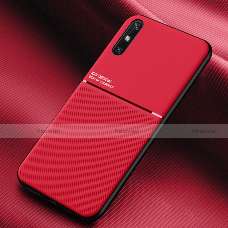 Ultra-thin Silicone Gel Soft Case 360 Degrees Cover S02 for Huawei Enjoy 10e Red