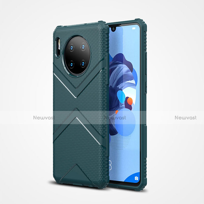 Ultra-thin Silicone Gel Soft Case 360 Degrees Cover S02 for Huawei Mate 30 Pro 5G Green