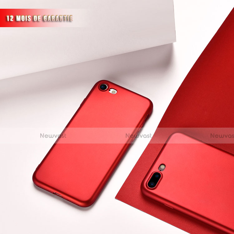 Ultra-thin Silicone Gel Soft Case 360 Degrees for Apple iPhone SE (2020) Red