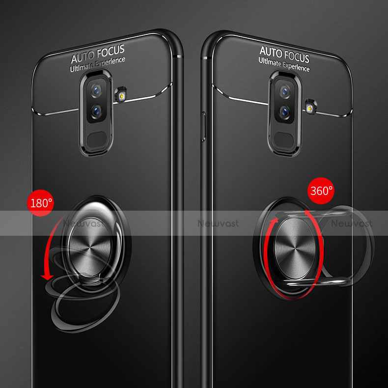 Ultra-thin Silicone Gel Soft Case Cover with Finger Ring Stand for Samsung Galaxy A6 Plus