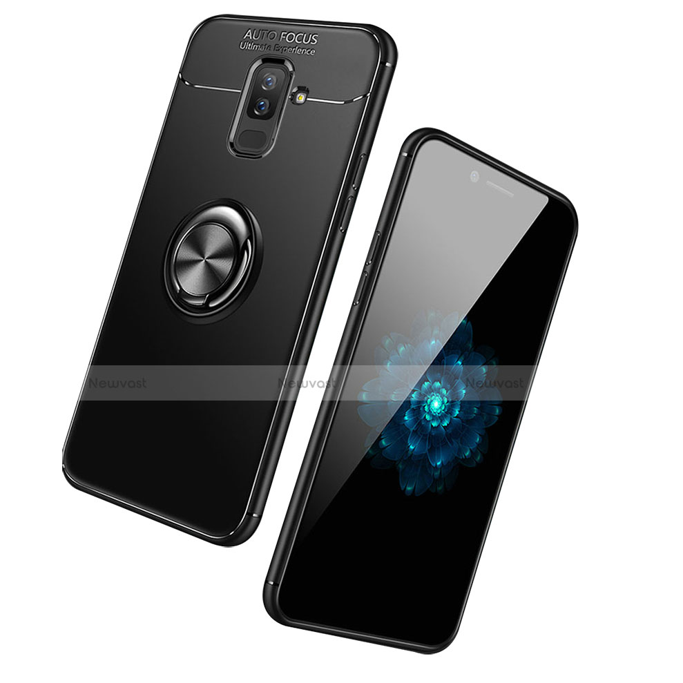 Ultra-thin Silicone Gel Soft Case Cover with Finger Ring Stand for Samsung Galaxy A9 Star Lite