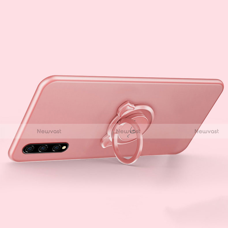 Ultra-thin Silicone Gel Soft Case Cover with Magnetic Finger Ring Stand A02 for Huawei Enjoy 10S