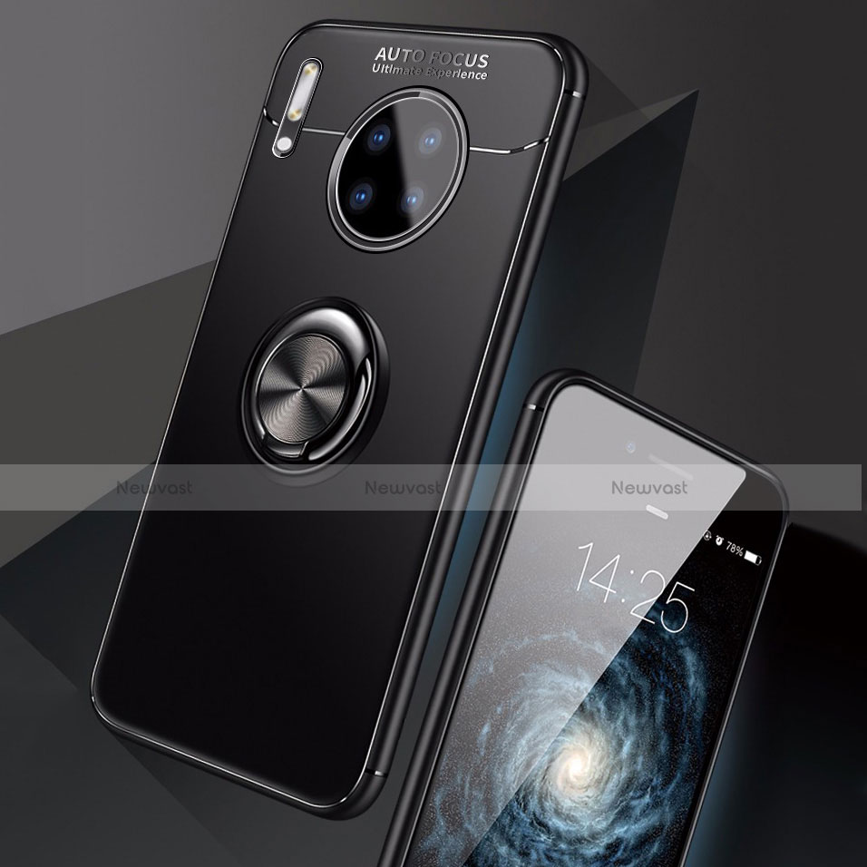 Ultra-thin Silicone Gel Soft Case Cover with Magnetic Finger Ring Stand for Huawei Mate 30 Pro 5G