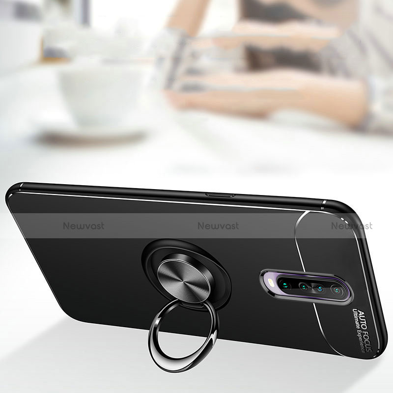 Ultra-thin Silicone Gel Soft Case Cover with Magnetic Finger Ring Stand for Xiaomi Redmi K30 5G