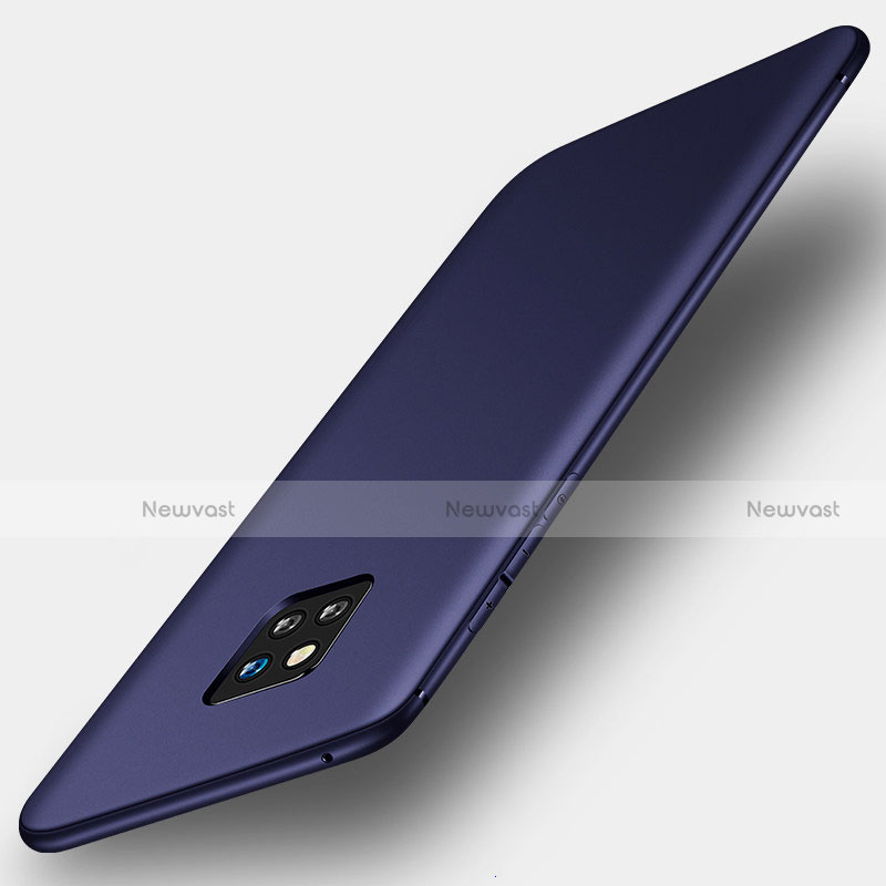 Ultra-thin Silicone Gel Soft Case S01 for Huawei Mate 20 Pro Blue