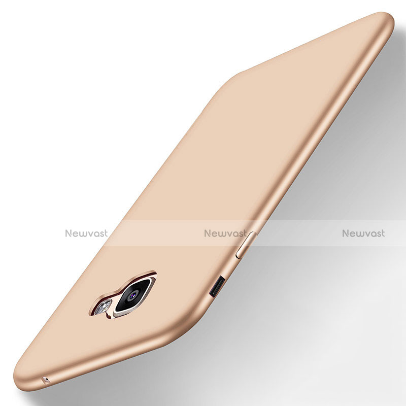 Ultra-thin Silicone Gel Soft Case S01 for Samsung Galaxy A8 (2016) A8100 A810F Gold