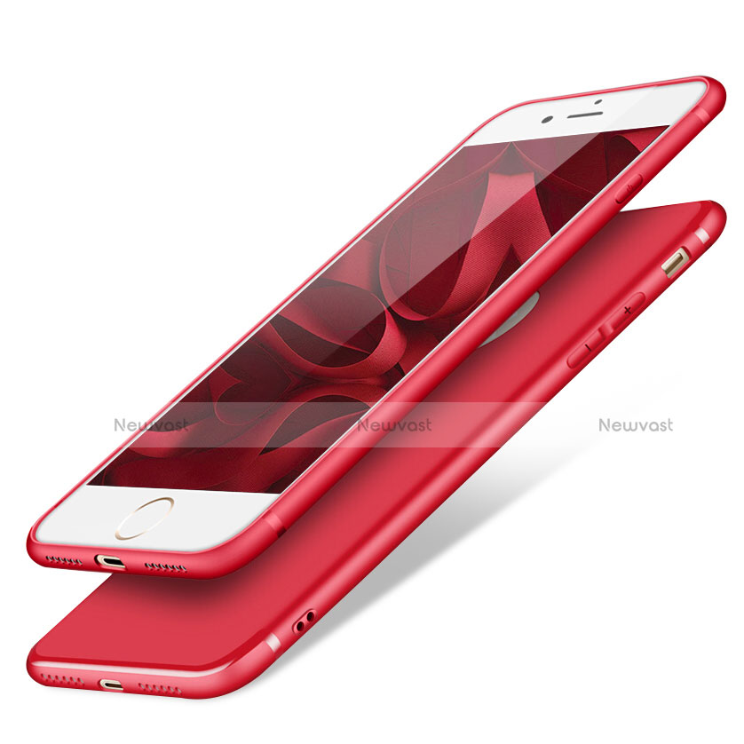 Ultra-thin Silicone Gel Soft Case S09 for Apple iPhone SE (2020) Red