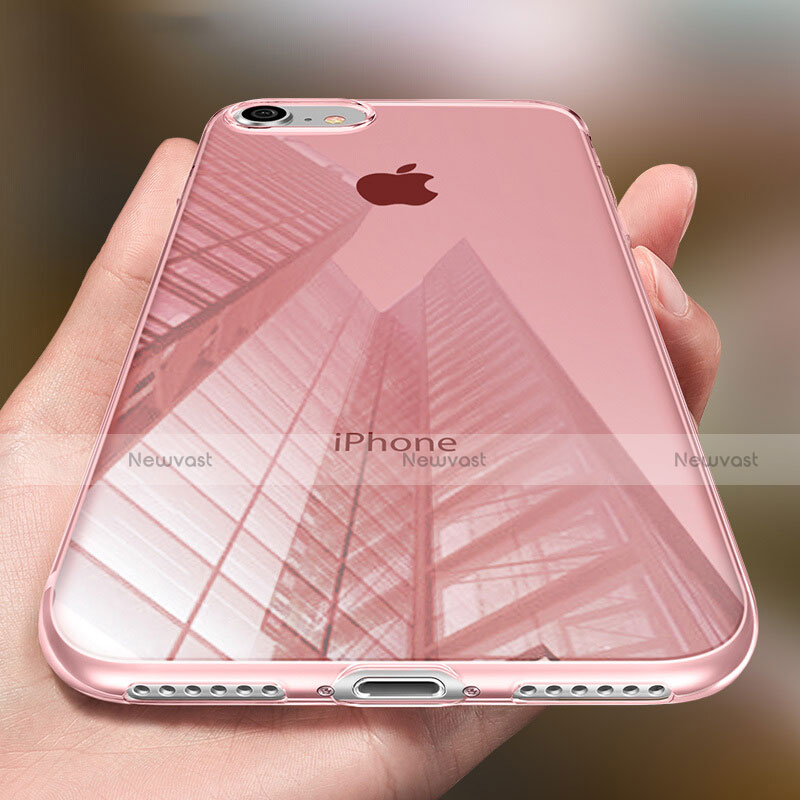 Ultra-thin Transparent Gel Soft Cover for Apple iPhone SE (2020) Pink