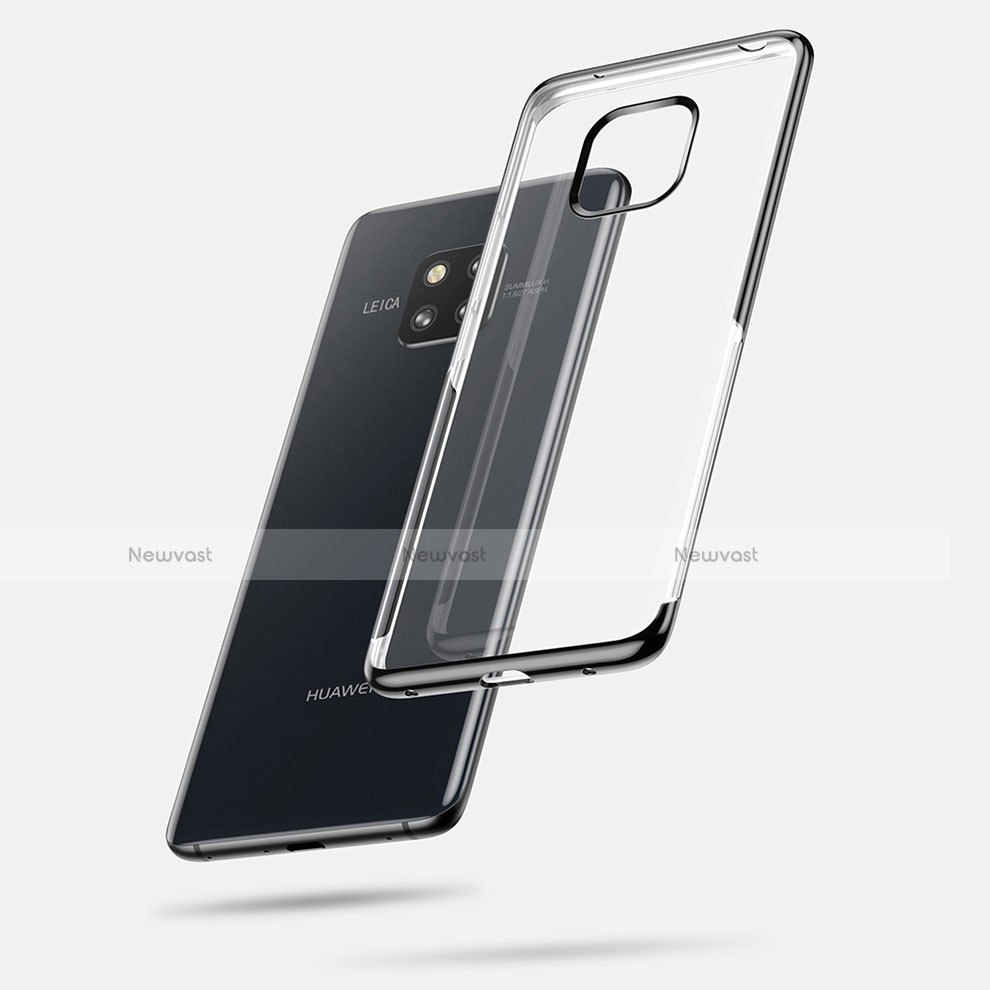 Ultra-thin Transparent TPU Soft Case Cover for Huawei Mate 20 Pro Black
