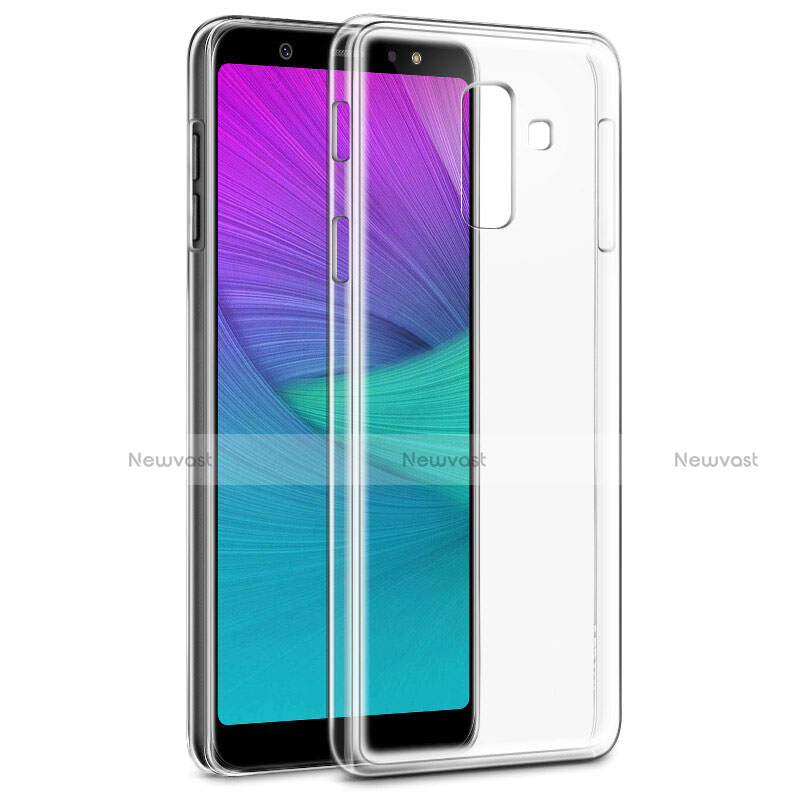 Ultra-thin Transparent TPU Soft Case Cover for Samsung Galaxy A6 Plus Clear