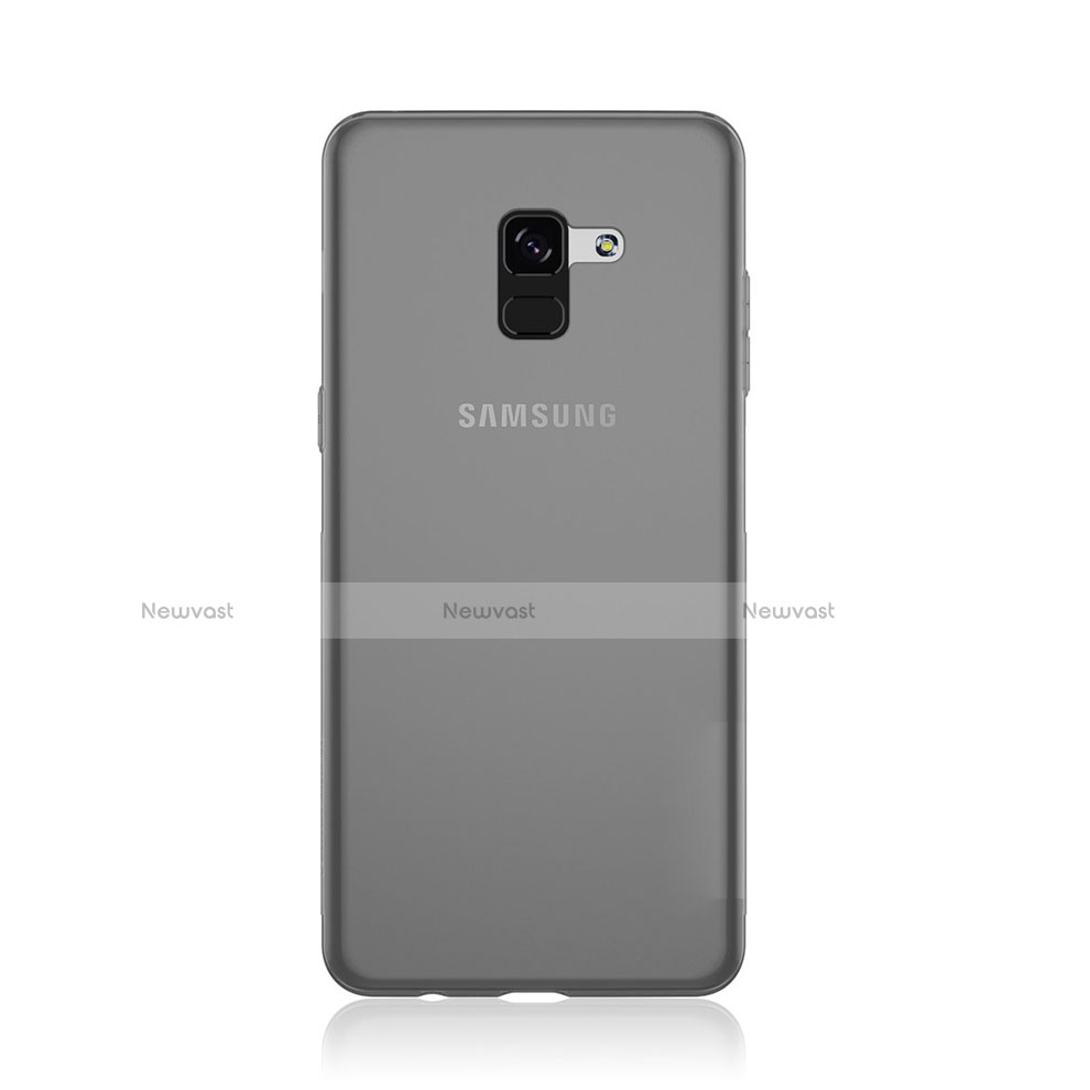 Ultra-thin Transparent TPU Soft Case Cover for Samsung Galaxy A8 (2018) Duos A530F Gray