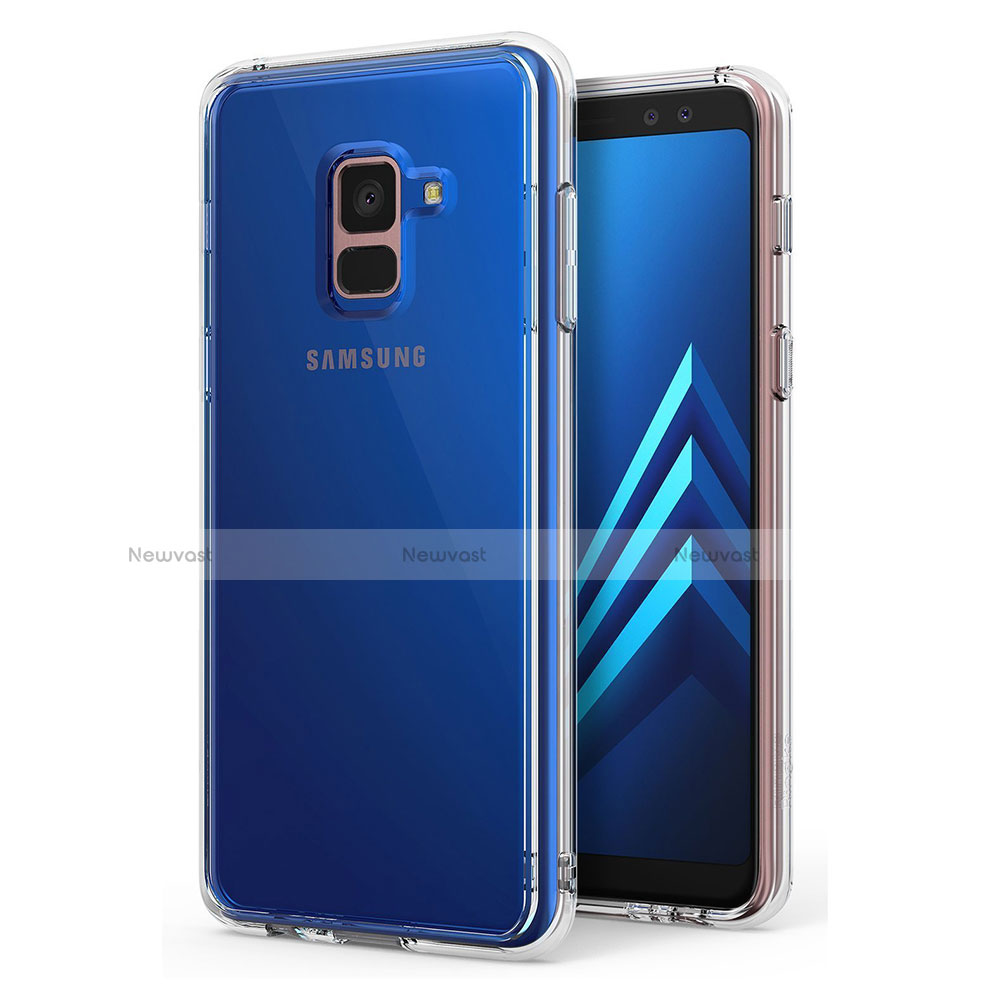 Ultra-thin Transparent TPU Soft Case Cover for Samsung Galaxy A8+ A8 Plus (2018) A730F Clear