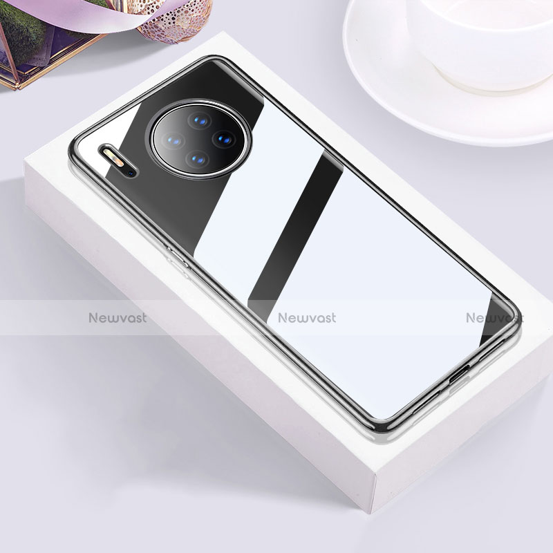Ultra-thin Transparent TPU Soft Case Cover H01 for Huawei Mate 30 Pro 5G Black