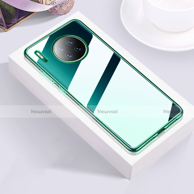 Ultra-thin Transparent TPU Soft Case Cover H01 for Huawei Mate 30 Pro 5G Green